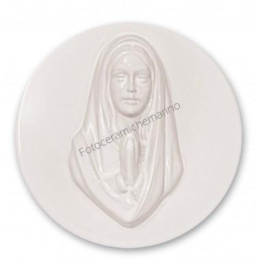 Medaglioni Intarsio in Porcellana Bianca