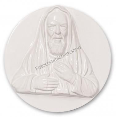Medaglione Padre Pio Intarsio